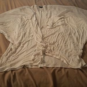 a.n.a white short sleeve cardigan